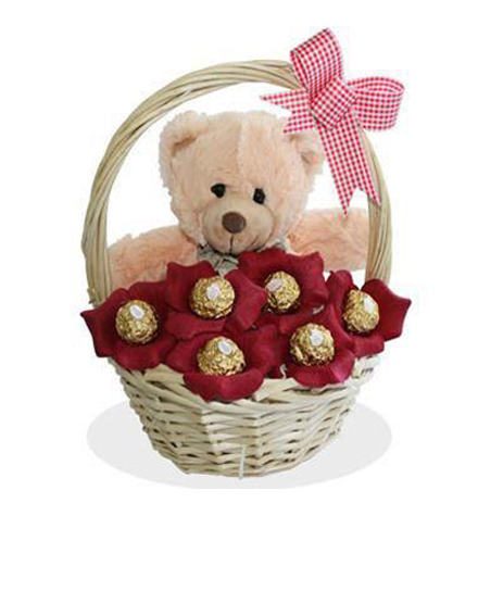 Chocolates Teddy Basket